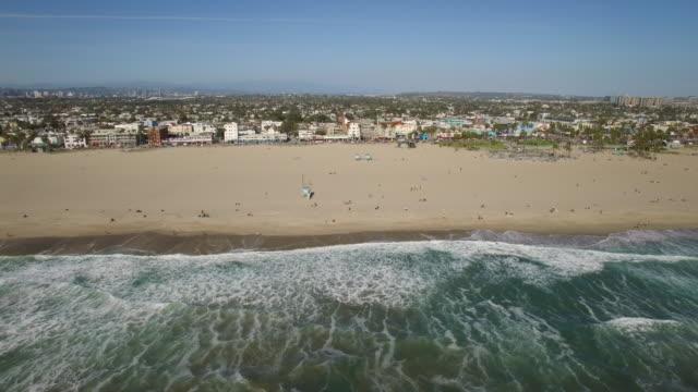 空中ベニス ・ ビーチ、ロサンゼルス - ベニスビーチ点の映像素材/bロール