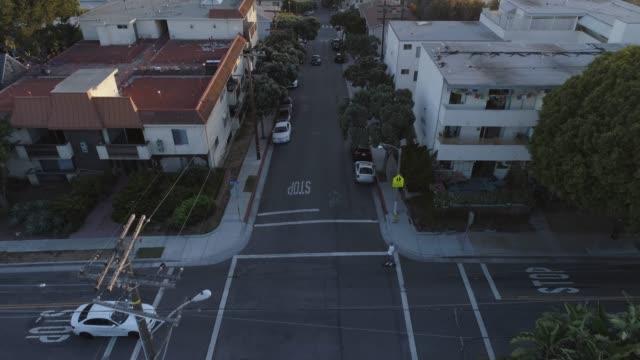 aerial venice beach santa monica, california, usa - venice beach stock videos and b-roll footage