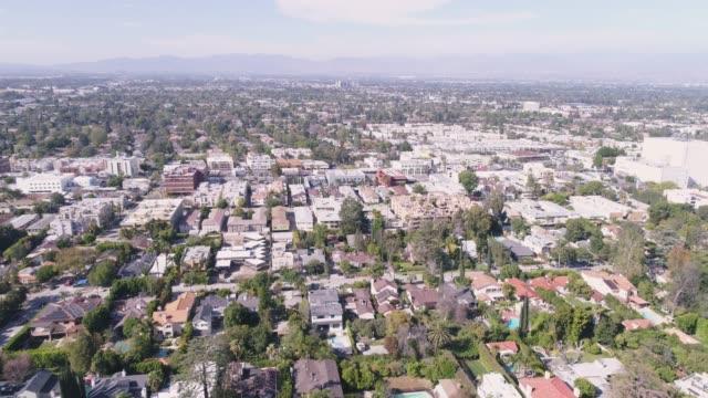 Aerial Ventura Boulevard, Los Angeles, California