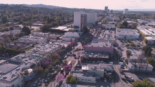 Aerial Ventura Boulevard San Fernando Valley California