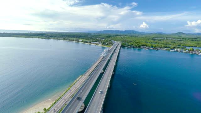 Luchtfoto video brug Thailand