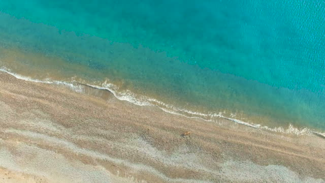 Aerial video: Clear sea water