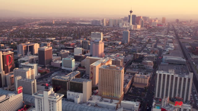 Aerial video flying over North Las Vegas looking South