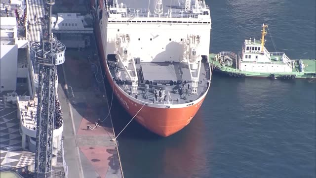 aerial video footage taken on nov 10 above tokyo bay shows the 12 650ton the research vessel shirase leaving port to head to showa station japan's... - antarctica research stock videos & royalty-free footage