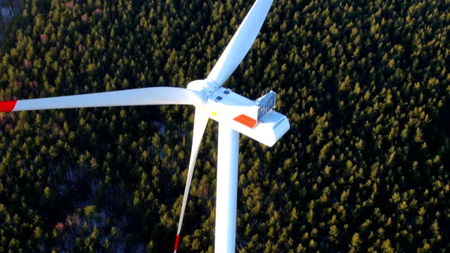 aerial video from wind generator wind turbine - mill stock videos & royalty-free footage