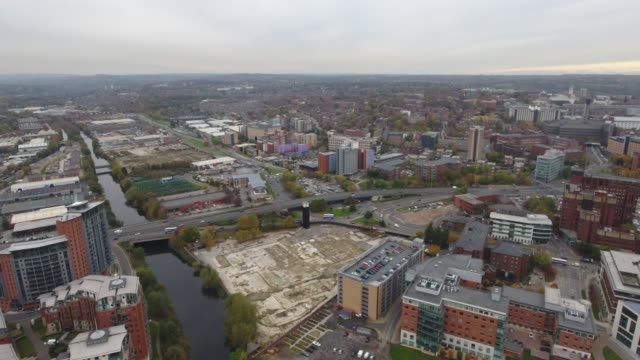 Aerial Video Leeds Looking Towards Kirkstall and Developments