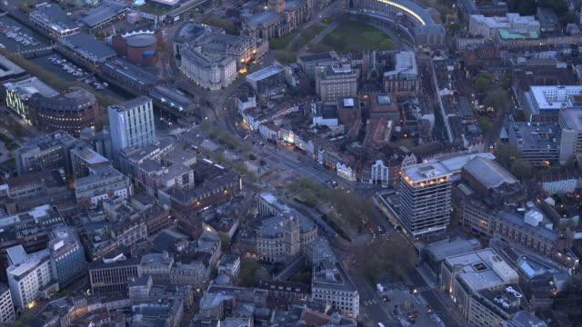 aerial video of bristol city centre. bristol, uk. - bristol england stock videos and b-roll footage