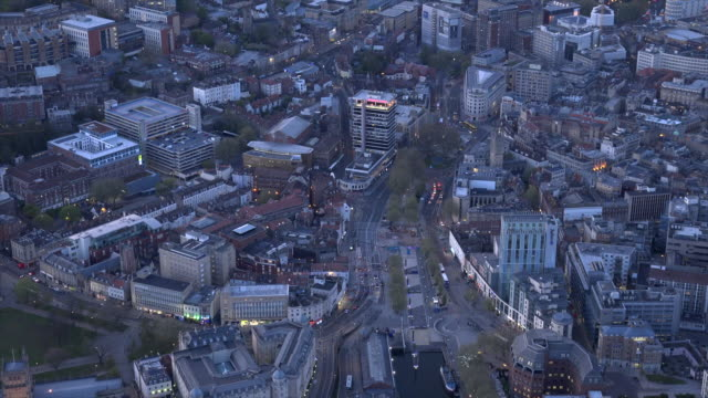 aerial video of bristol city centre. bristol, uk. - bristol england stock videos & royalty-free footage