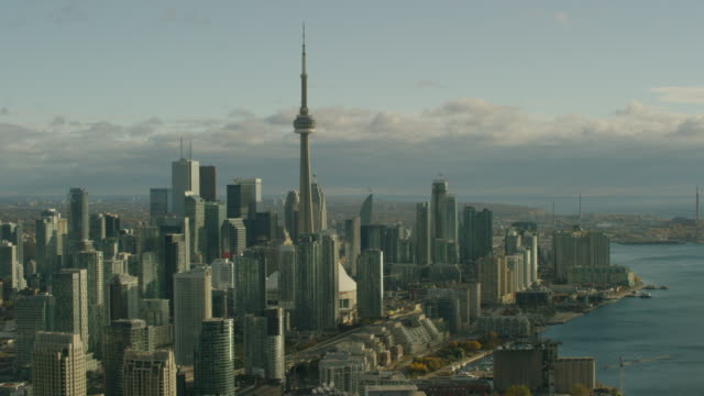 Aerial video of downtown Toronto 4K