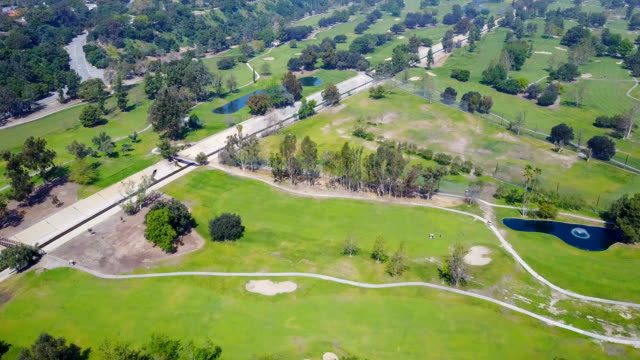 aerial video of golf course - green golf course stock videos and b-roll footage
