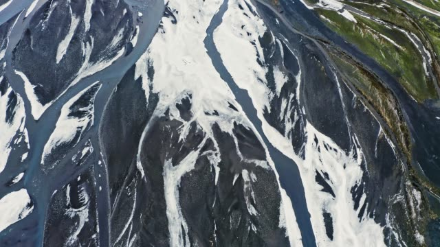 aerial video of icelantic river delta - delta stock videos and b-roll footage