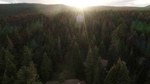 stockvideo's en b-roll-footage met aerial video of lake tahoe in california - californian sierra nevada