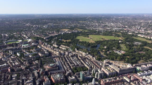 aerial video of marylebone station, marylebone and regents park with distant views over lord's cricket ground and north london - lords cricket ground stock videos and b-roll footage