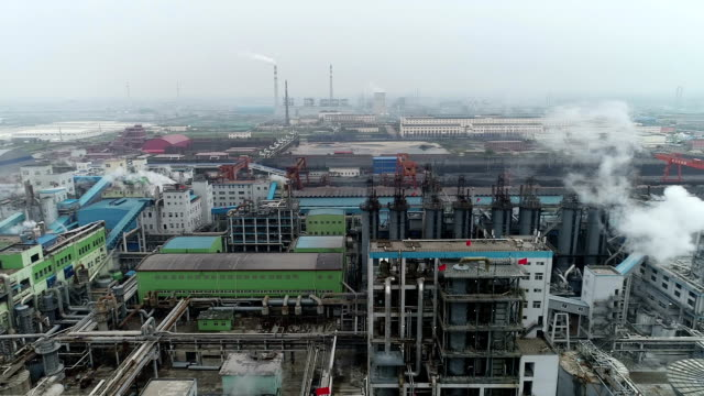 aerial video of the chemical plant - gas pipe stock videos and b-roll footage