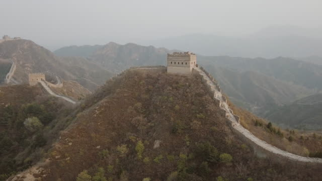 aerial video of the great wall of china - great wall of china stock videos & royalty-free footage