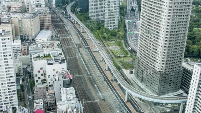 Aerial video of Tokyo