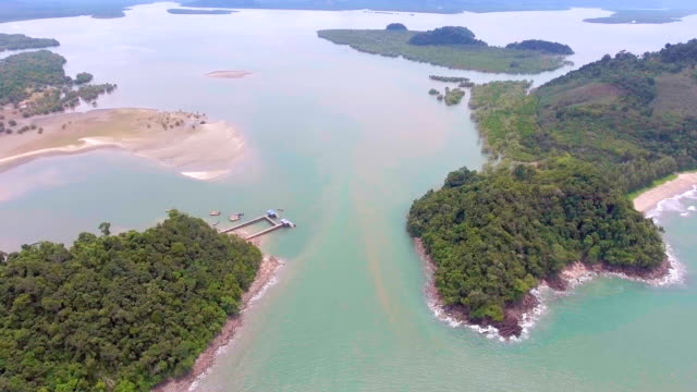 Aerial Video of Tropical Sea and Beach