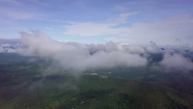 Aerial video on the sky with clouds for footage background