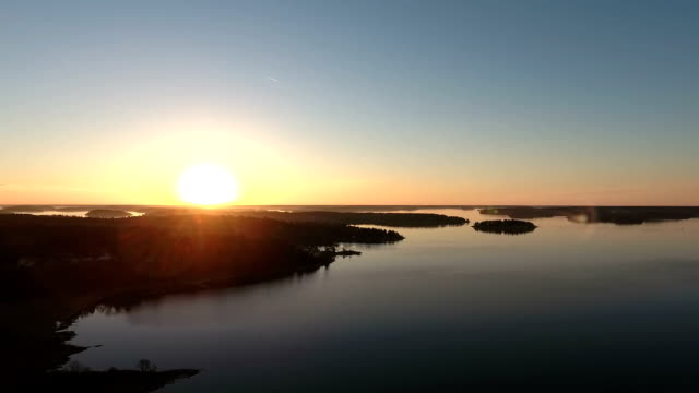 Aerial Video over Stockholm Archipelago