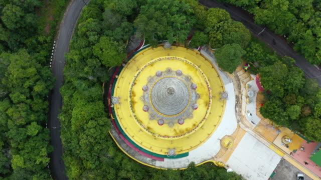 泰國山上的空中視頻寶塔。 - 寶塔 個影片檔及 b 捲影像