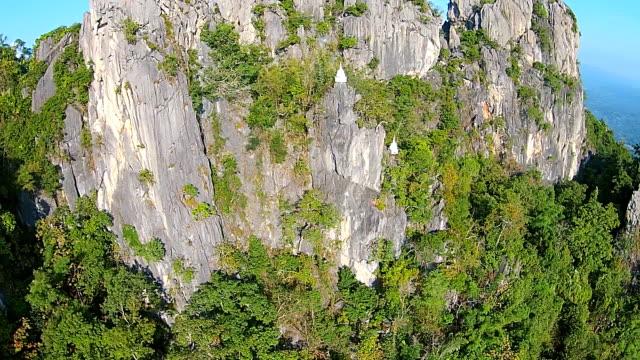 Aérea de Video: Wat Prajomklao Rachanusorn templo tailandés, Tailandia