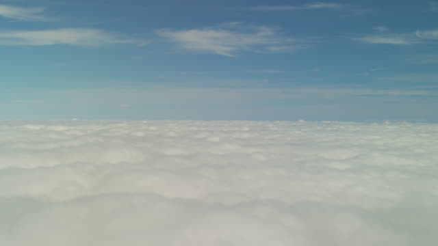 Aerial view above a Cumulonimbus cloudscape