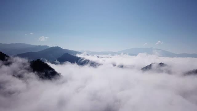 flygfoto över moln och himlen i soluppgång tid, inspiration koncept - atmosfär råmaterial bildbanksvideor och videomaterial från bakom kulisserna