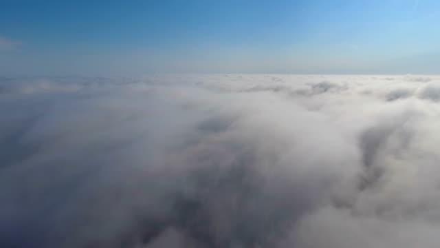 Flygfoto över molnen