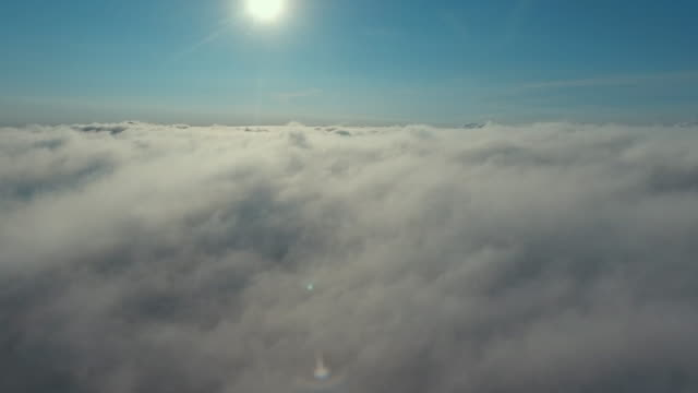 aerial view above the clouds - stratosphere stock videos & royalty-free footage
