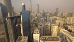 Aerial view. Abu Dhabi cityscape. 4K
