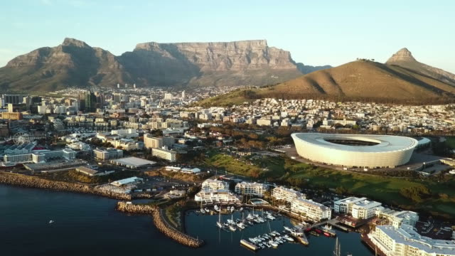 aerial view across cape town, south africa - cape town stock videos & royalty-free footage