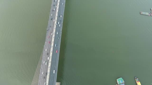 Aerial view Along the Bridge