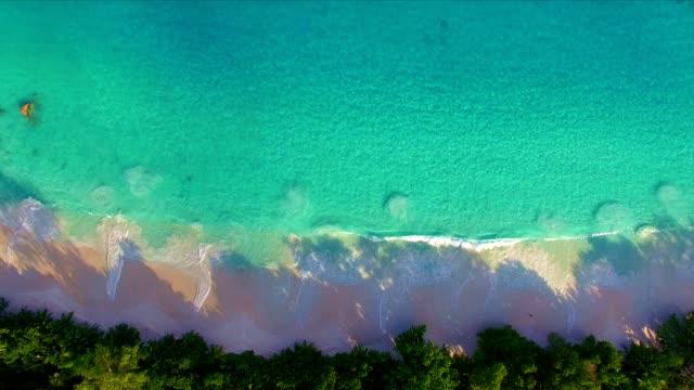 Aerial view: Anse Lazio, Praslin Island, Seychelles