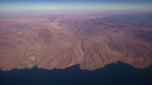 aerial view ḥaqal city in the northwest of saudi arabia  gulf of aqaba - red sea stock videos & royalty-free footage