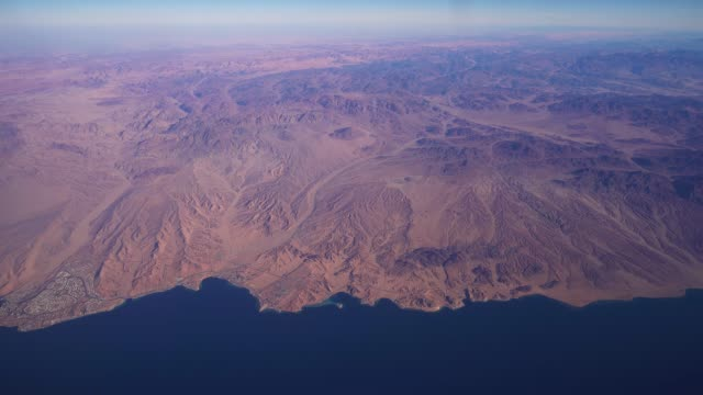 aerial view ḥaqal city in the northwest of saudi arabia  gulf of aqaba - gulf of aqaba stock videos & royalty-free footage
