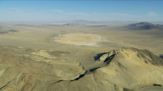 aerial view arid dried up desert lake nevada - nevada stock videos & royalty-free footage