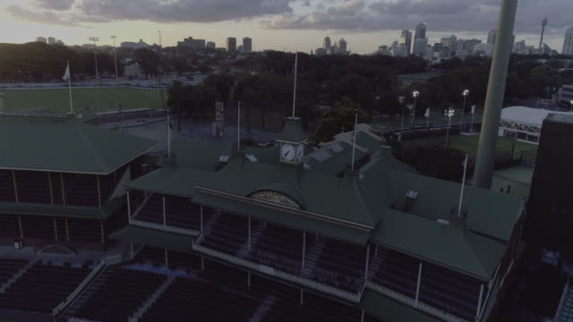 Aerial view around the members stand at the Sydney Cricket Ground. Sydney Australia