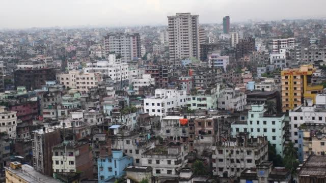 aerial view at motijheel area in dhaka, the capital city of bangladesh. - dhaka stock videos & royalty-free footage