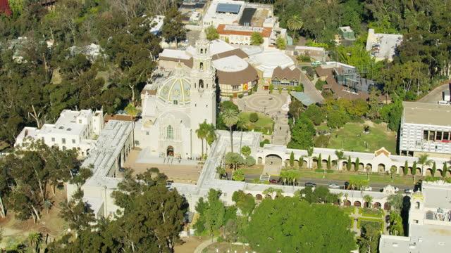 vídeos y material grabado en eventos de stock de aerial view balboa park california tower san diego - ornamentado