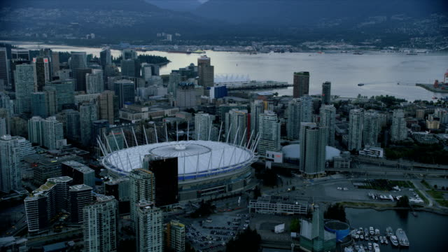 Aerial view BC Place Vancouver British Columbia Canada