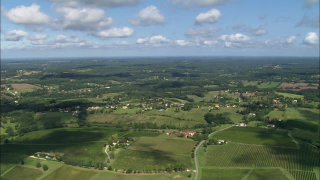 ws pan aerial view, bergerac, aquitaine, france - bergerac stock videos and b-roll footage