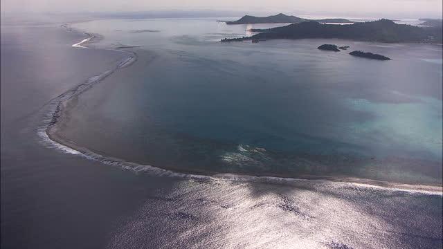 aerial view bora bora pacific ocean french polynesia - french polynesia stock videos & royalty-free footage
