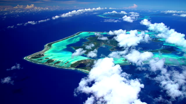 aerial view bora bora tupai and tahaa islands - tahaa island stock videos & royalty-free footage
