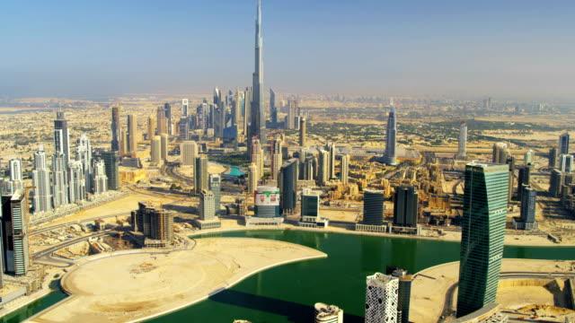 Aerial view Burj Khalifa Dubai Creek Dubai