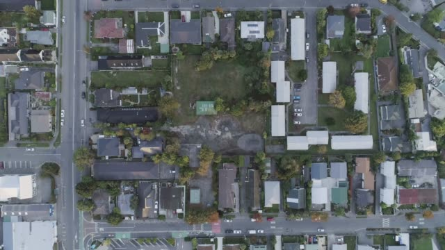aerial view christchurch, new zealand - horizontal stock videos & royalty-free footage