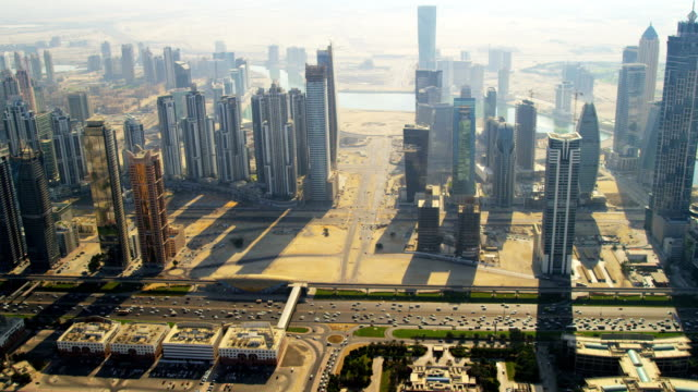 aerial view city and metro station dubai - cityscape stock videos & royalty-free footage