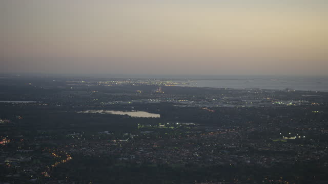 stockvideo's en b-roll-footage met aerial view city of cockburn evening lights perth - anchored