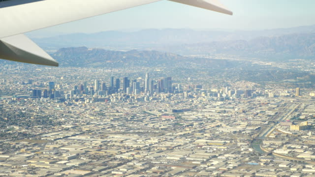 Aerial view city of Los Angeles California in 4K