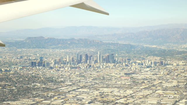 Aerial view city of Los Angeles California