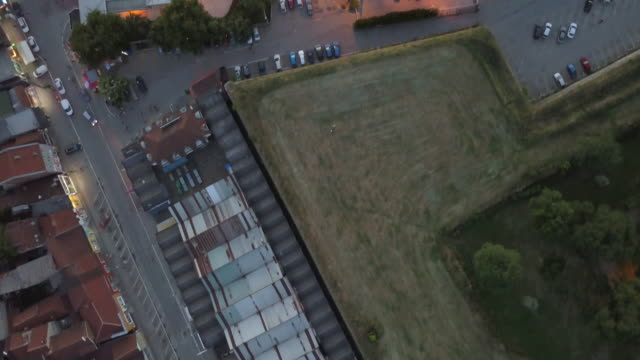 aerial view city of nis in sunset - serbia stock videos & royalty-free footage